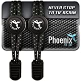Phoenix Fit UK - No tie Elastic Lace System with lock - Easy to install in a range of colours. Great for runners, children, older generation & active lifestyles - 1 Pair