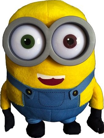 Minion - Bob peluche 28cm Ojos de plástico - Calidad super Soft - [Minion - Gru, mi villano favorito (Despicable me)]