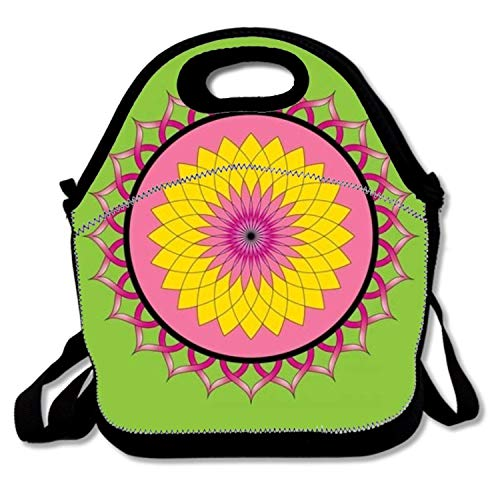 ziHeadwear Insulated Lunch Bag Rose Floral Pattern Lunchbox Waterproof Cooler Warm Bags Reusable Tote Box - Tiffin Rose