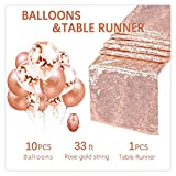 QueenDream Chemin de Table à Paillettes Or Rose Paillettes, Rose Gold, 1 Package