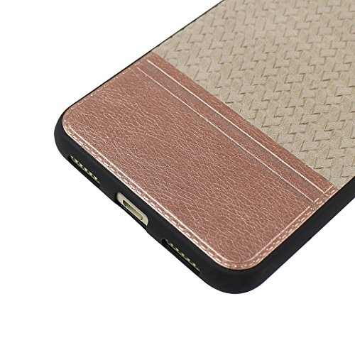 Cover Per Huawei P8 Lite 2017, Asnlove TPU Moda Morbida Custodia Linee Intrecciate Caso Elegante Ultra Sottile Cassa Braided Stile Tessere Case Bumper Per Huawei P8 Lite 2017 - Rosa Grigio