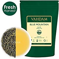 Montaña azul verde té Leaves (25 Cups) - Suave y delicioso verde té Hoja suelta, desintoxicación 100% natural té, Té de adelgazamiento y pérdida de peso, Single Estate, Grown & Packed in India, 50g