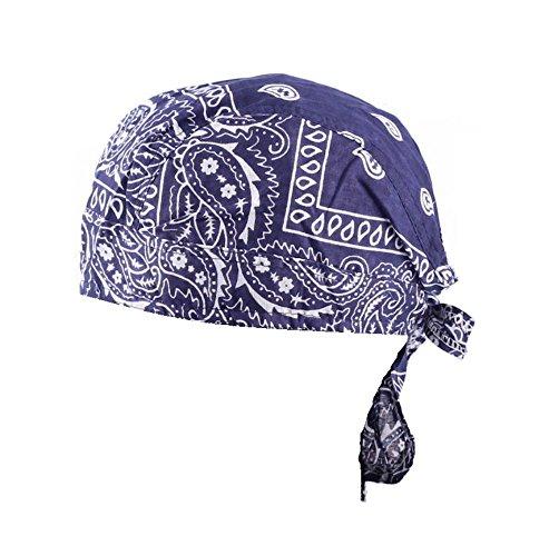 1 x Kopftuch Piratentuch DUNKELBLAU Bandana Hat Zandana Biker Tuch Durag Bikertuch Headwrap Sonnenscheinschuhe® Headwrap Tuch