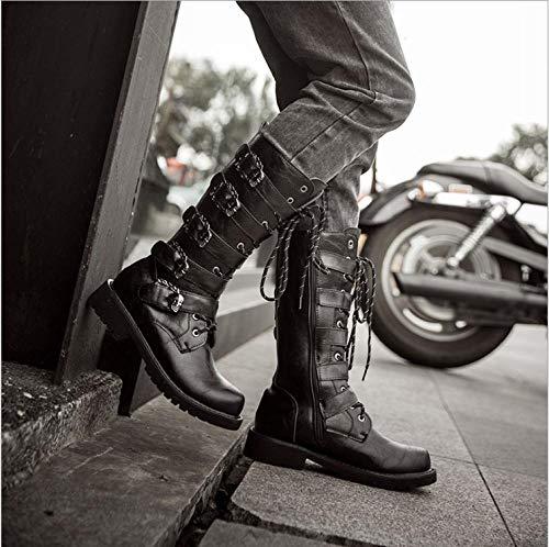 Scarpe da Trekking da Uomo Scarpe da Escursionismo Antiscivolo Traspiranti Calzature Corsa Arrampicata Passeggio Scarpe da Lavoro Sportive All'Aperto Stivali da Moto Neri Alt