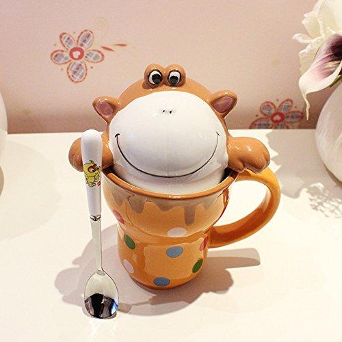 Dana Carrie Schöne's Animal Wasser Schüssel Keramik Tasse für Tasse Paar Kinder Milch Cup, F