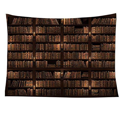 vanpower Tapisserie Retro Bücherregal Druck Kunst Wandbehang Decke Strand Yoga Mat Zimmer...