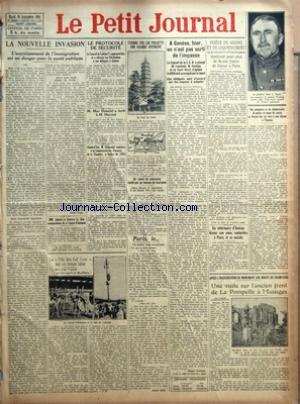 PETIT JOURNAL (LE) [No 22538] du 30/09/1924 - LA NOUVELLE INVASION - L'ACCROISSEMENT DE L'IMMIGRATION EST UN DANGER POUR LA SANTE PUBLIQUE PAR ANDRE FAGE - MM AULARD ET GUSTAVE LE BON COMMANDEURS DE LA LEGION D'HONNEUR - LA FETE DES CAF'CONC PAR UN TEMPS IDEAL PAR G M - LE PROTOCOLE DE SECURITE - M MAC DONALD A ECRIT A M HERRIOT - AUJOURD'HUI M CLEMENTEL EXPOSERA A LA COMMISSION DES FINANCES DE LA CHAMBRE LE BUDGET DE 1925 - IL PLEUVRA SANS DOUTE AUJOURD'HUI NOUS DIT ON A L' O N M - TCHANG TSO