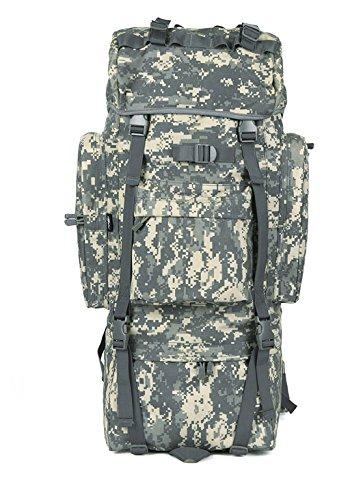 Outdoor Rucksack große Kapazität camouflage Bergsteigen Taschen Rucksack, schwarz, 100L mit Wasserdichte Haube B) 100 L mit Wasserdichte Haube