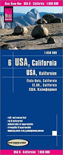 Reise Know-How Landkarte USA 06, Kalifornien (1:850.000): world mapping project (Usa Reise-karte)