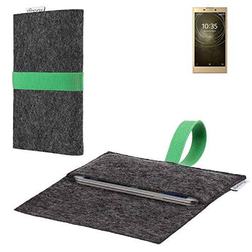flat.design vegane Handy Hülle Aveiro für Sony Xperia L2 Dual-SIM passgenaue Filz Tasche Case Sleeve Made in Germany