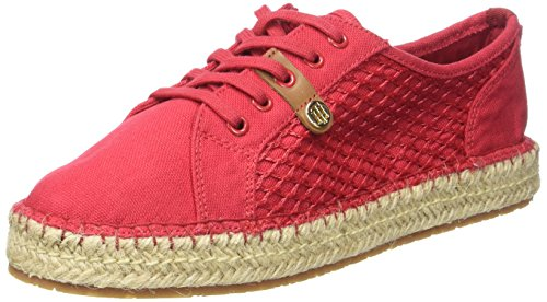 Tommy Hilfiger S1285ammy 6d, Espadrilles Femme Rouge (Tango Red 611)