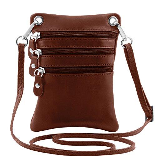Tuscany Leather TL Bag - Tracollina in pelle morbida Nero Borse uomo in pelle Marrone