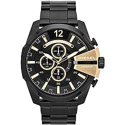 Diesel Herren-Armbanduhr Analog Quarz Edelstahl beschichtet DZ4338