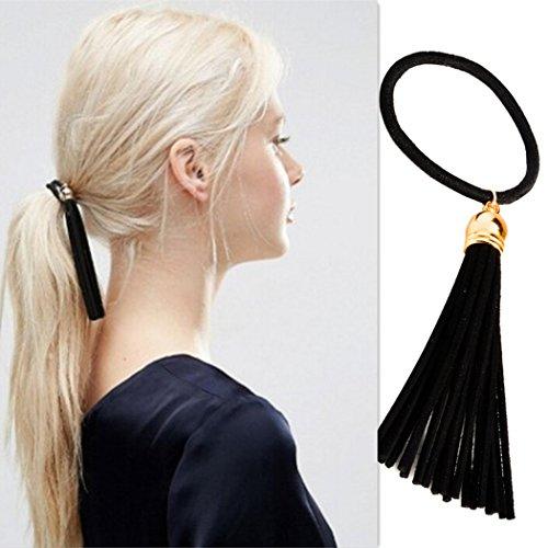 aukmla Haar Band Pferdeschwanz Simple Kragenhalskette schwarz Haar Krawatten für Frauen Schwarz New Style Haar (Kostüme Lollipop Girl)