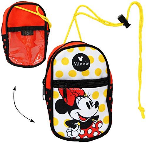 alles-meine.de GmbH Handytasche / Geldbörse / Brustbeutel -  Disney Minnie Mouse  - Geldbeutel - Portemonnaie für Kinder - Geld Handy Geldtasche - Mädchen - für Buskarte - Hüll..