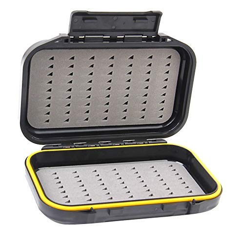 Ouken Fisch-Gerät-Aufbewahrungsbehälter der doppelten Schicht-Fischen-Köder-Kasten Wasserdicht Fly Tragbarer Fischköder Box -