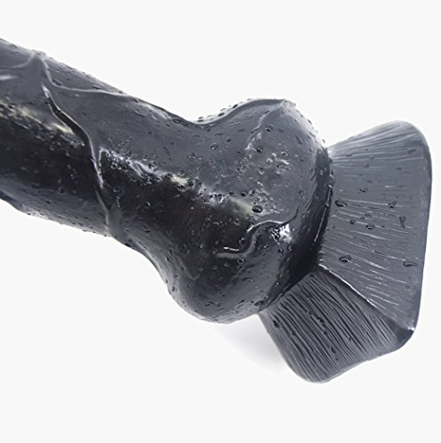 SXOVO Tier Penis 18.2CM Realistischer Wolf Dildo Großer Größe Hahn Anal Plugs Künstlicher Sexspielzeug (Schwarz) - 4