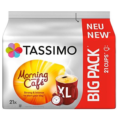 Tassimo Kapseln Morning Café, 105 Kaffeekapseln, 5er Pack, 5 x 21 Getränke