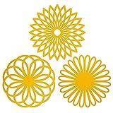 Salvamanteles de flores molde de silicona-use alfombrilla de