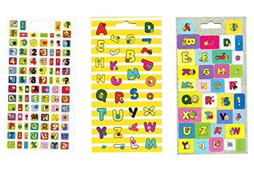 Preisvergleich Produktbild Sticker Smiley World -7a- Buchstaben ABC
