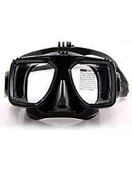 Tauchmaske, Schnorchelmaske mit Halterung Ständer für Tauchen, Schnorcheln, schwimmen für GoPro, Action Kamera