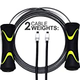 Quick Play Pro Speed Springseil–2Kabel (dünn für Speed + Dick für Power Endurance) Premium Speed Rope für Übungs & Training Cardio Fitness, Boxen, Seil & Springseil 2017-