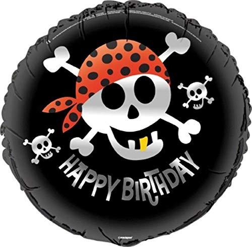 NANA'S PARTY Piraten-Spaß Geburtstagsparty (Totenkopf und gekreuzte Knochen), Geschirr Luftballons und Dekorationen 18