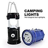 #2: Mystique Camping Lantern/Lamp Flashlight, Solar Portable Outdoor LED lights, Rechargeable, Built in Power Bank Bright Night Lamp for Hiking, Camping, Emergencies, Outdoor, Travelling by MYSTIQUE MALL