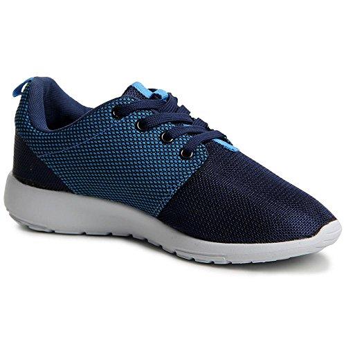topschuhe24 473 Damen Sneaker Turnschuhe Blau