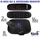 Matricom G-Box Q2 Android TV Box with Air Mouse Keyboard, used for sale  Delivered anywhere in UK
