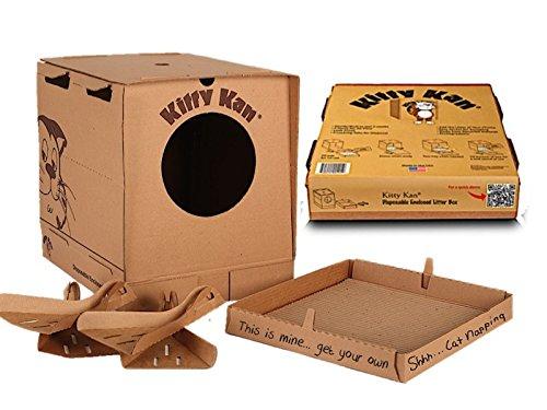 Kitty Kan Traveler Qualität beiliegenden Einweg-Katzentoilette mit Schaufeln und einen Bonus Katzenbett -