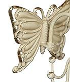 NIKKY HOME Appendino per Gioielli da Parete Espositore Porta Braccialetti collane Bigiotteria Organizer Display con 6 Ganci Stile Vintage Regalo Decorazione in Metallo