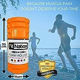 Fit Nation Faszienrolle – Foam Roller Set zur Selbstmassage mit Übungsbuch – Sport Massagerolle Für Anfänger, Profis, Damen & Herren – Orange - 3