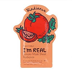 Tonymoly I'm Real Skin Care Facial Mask Sheet Package (Tomato - Radiance 10 Sheets)