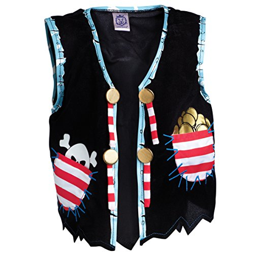Liontouch 22807 Pirate Vest, Pirate Red Stripe / Piraten Weste, Red ()