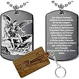 Oración a San Miguel Arcángel(acero inoxidable)-Collar colgante