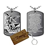 Engravable Gifts Factory Oración a San Miguel Arcángel(acero inoxidable)-Collar colgante