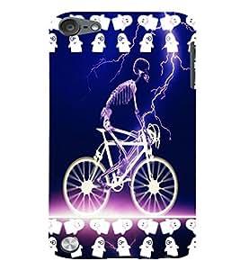 Fuson 3D Printed Skeleton Designer back case cover for Apple iPod Touch 5 - D4520