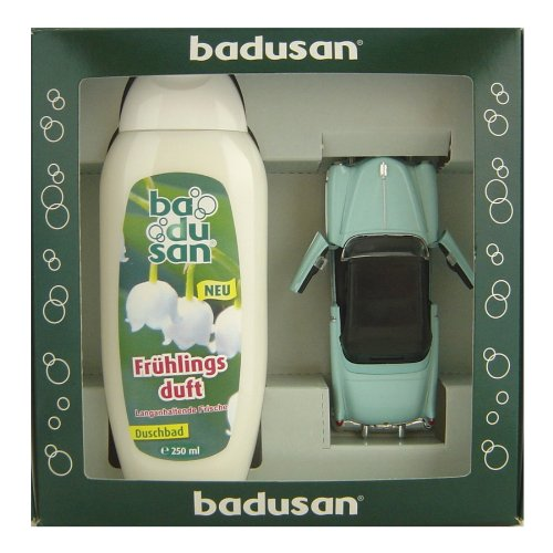 geschenkset-badusan-duschbad-250-ml-frhlingsduft-cadillac-eldorado-1953-in-blau-130-ca-12-cm-lang-au