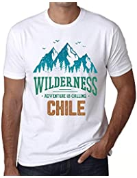 One in the City Hombre Camiseta Vintage T-Shirt Gráfico Wilderness Chile Blanco