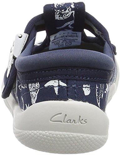 Clarks Briley Sky Fst, Scarpe Primi Passi Bimbo Blu (Navy)