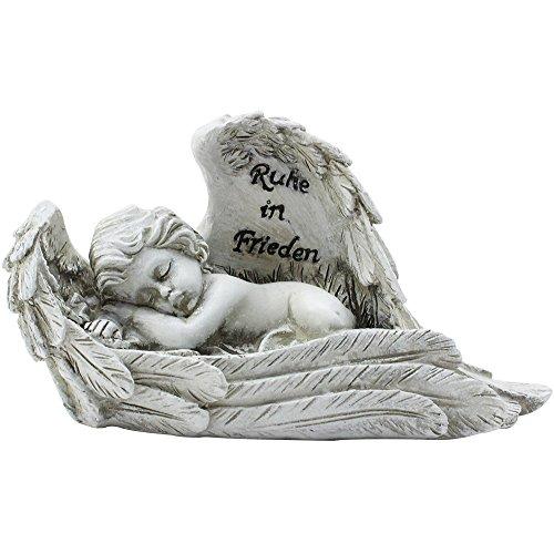 Grab Engel in Feder  Trauer  20cm sehr schön   NEU Engel,Grabengel