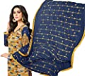 RIWAAYAT TRENDS Festival wear / Party wear / Ethnic wear / Wedding wear / Office wear / Casual wear Pakistani / Punjabi chudidaar salwar kameez suit unstitched dress material / pure rayon cotton printed top with embroidery on long sleeves / pure cotton bo