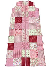 Baby Boum Premium 100% Cotton 2.5 Tog Patchwork Sleeping Bag in Pinks, 12m-5 yrs