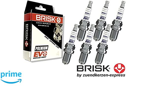 BRISK Premium EVO DR15SXC 1898 Zündkerzen 4 Stück by Zuendkerzen-Express
