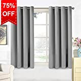Warm Harbor 2 Panels Blackout Curtains Soft Thermal Insulated Window Treatment for Bedroom