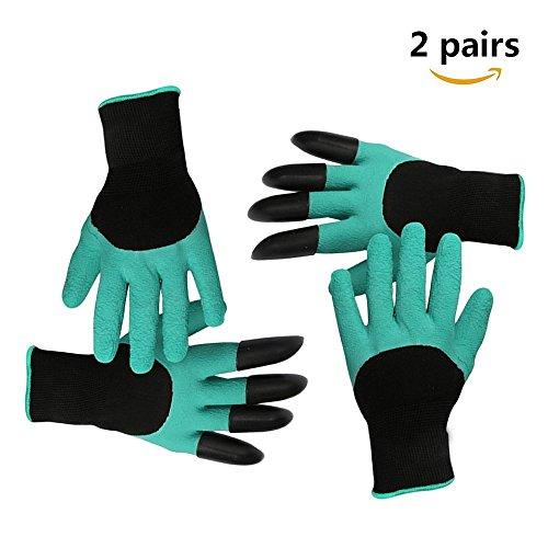 Wasserdicht Gartenhandschuhe [2 Paar] langlebig stichsichere Safe Gartenarbeit Handschuhe mit ABS-Kunststoff krallen für Haushalt und Garten Werkzeug handschuhe