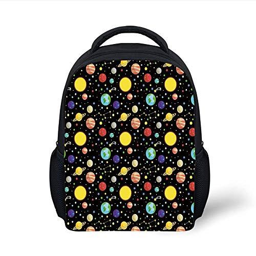 Earth-dots (Kids School Backpack Space,Comets Constellations Stars Polka Dots Earth Sun Saturn Mars Solar System,Multicolor Plain Bookbag Travel Daypack)
