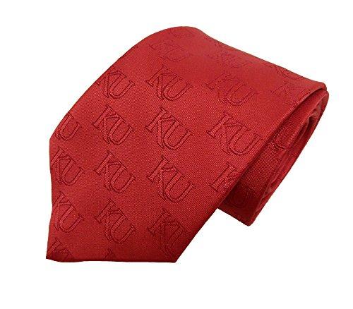 Donegal Bay NCAA Kansas Jayhawks rot Ton auf Ton Krawatte, blau, One size