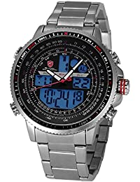 "Shark SH325N Reloj ""Winghead Shark"" Hombre de Cuarzo, Correa de Acero Inoxidable"